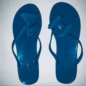 Express. Thong flip flop sandals. Blue.